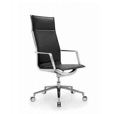 Chef Hochlehn- Bürodrehstuhl Aluminia