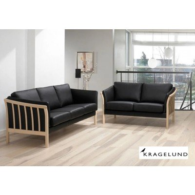 AYA Kragelund Holz/Leder Sofa
