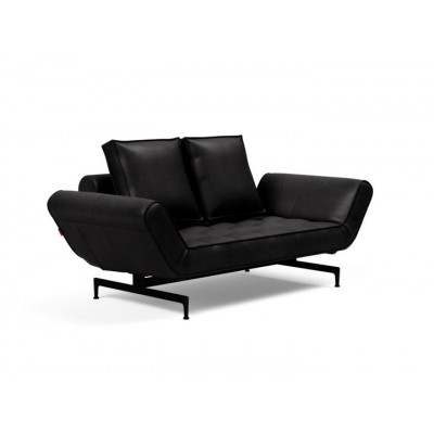 Ghia Innovation Leder Look Sofa Black