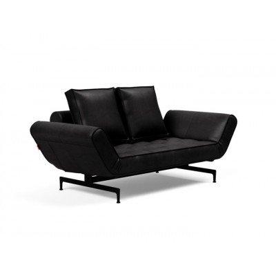 Ghia Innovation Leder Look Sofa Black