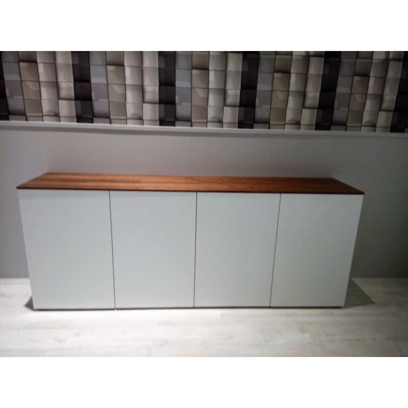 garda living swiss made sideboard 444 weiss nussbaum topo. Black Bedroom Furniture Sets. Home Design Ideas
